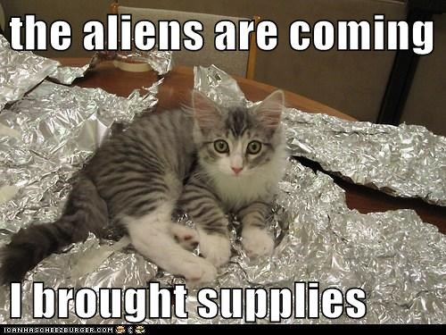 alien,Aliens,aluminum foil,defense,foil,protection,signs,supplies,tin hat,ufo