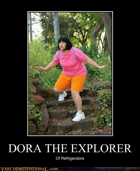 dora the explorer,fat joke,fridge,hilarious