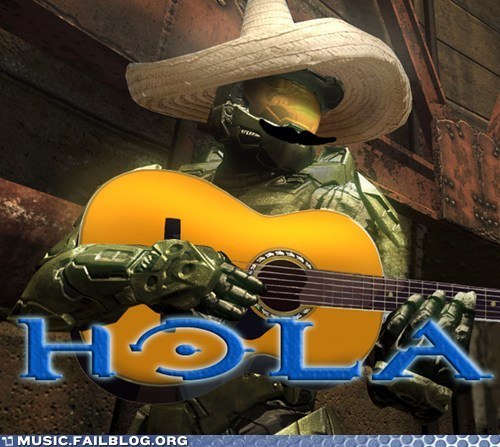 guitar halo hola spanish video games