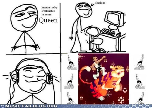 comic,freddie mercury,queen,today i will listen to x