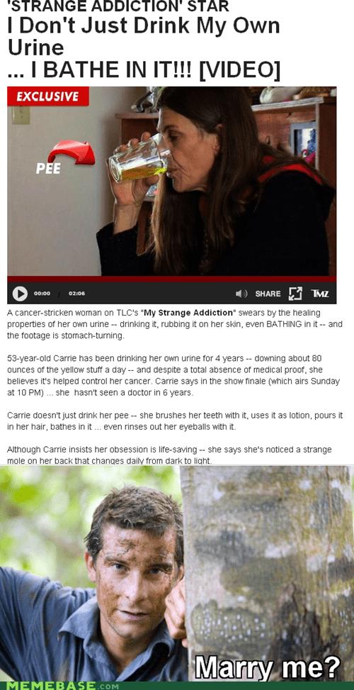 bath bear grylls drink pee - 6365512704