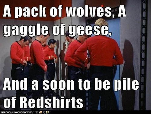 animals Death geese groups pile redshirts Star Trek