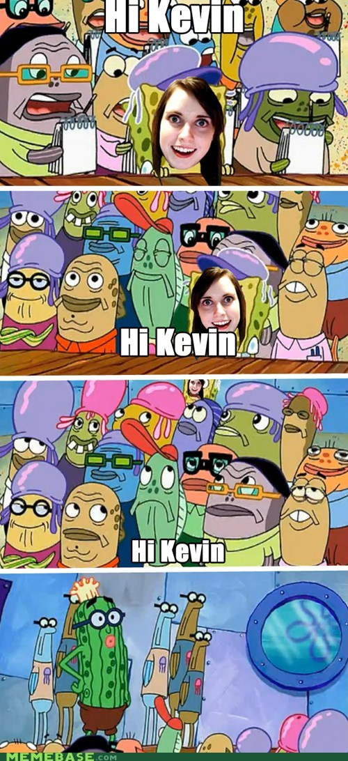 overly attached girlfriend SpongeBob SquarePants cartoons TV fan - 6366509824