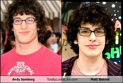 Andy Samberg Totally Looks Like Matt Bennet