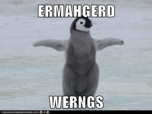berks Ermahgerd excited penguins wings wingspan - 6367213312