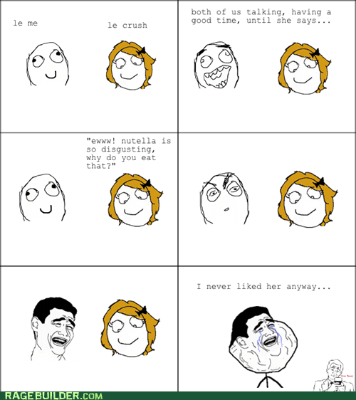 forever alone,nutella,Rage Comics,relationships