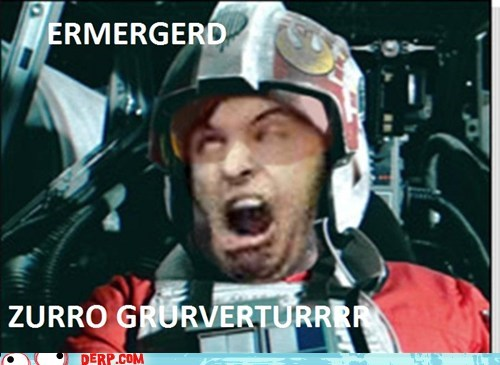 derp Ermahgerd Movie photoshop star wars zero g