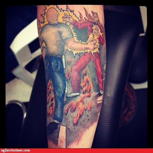 arm tattoos hell satan zap - 6367305984