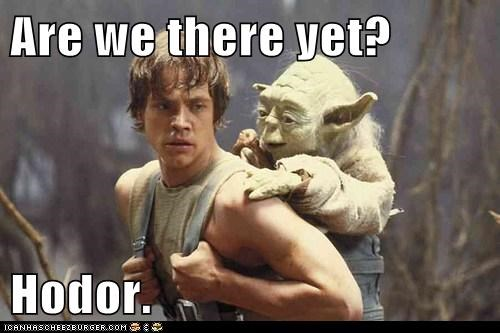 Mark Hamill,luke skywalker,yoda,Game of Thrones,star wars,hodor,are we there yet