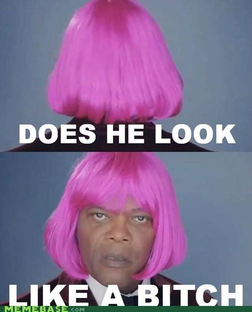 Memes pulp fiction Samuel L Jackson wig - 6367555072
