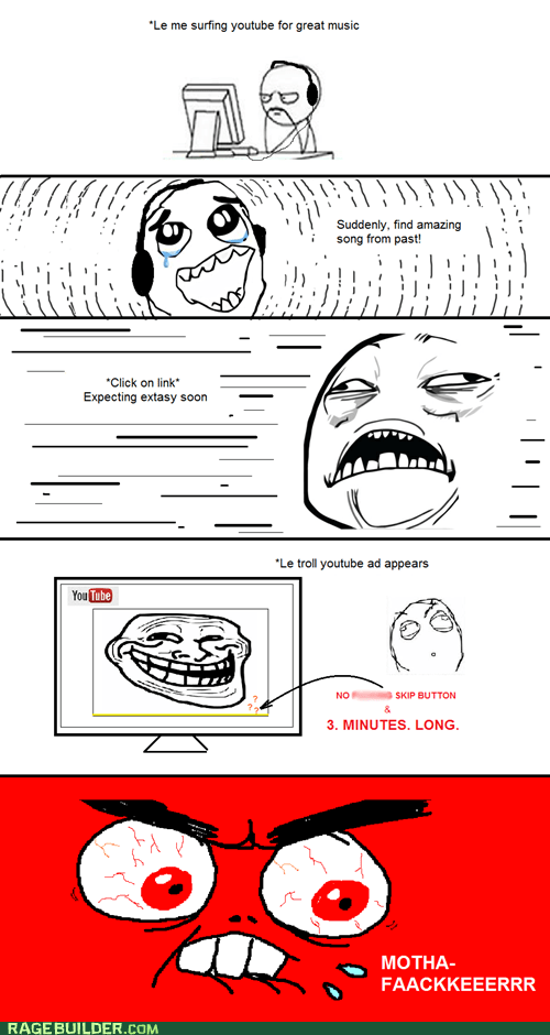 ads,preroll ads,Rage Comics,youtube