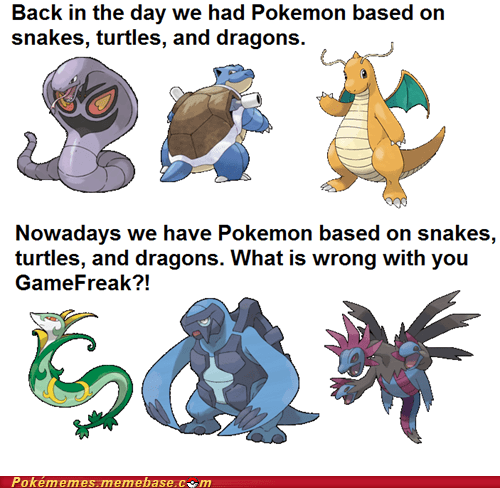 animals comparison generations genwunner Pokémon the internets - 6368003584