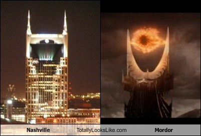 Eye of Sauron funny Lord of the Rings mordor nashville TLL