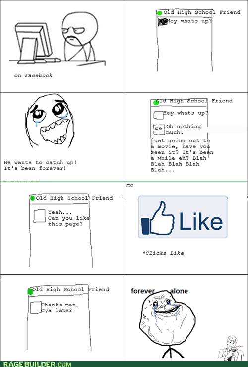 forever alone,like,Rage Comics,truancy story