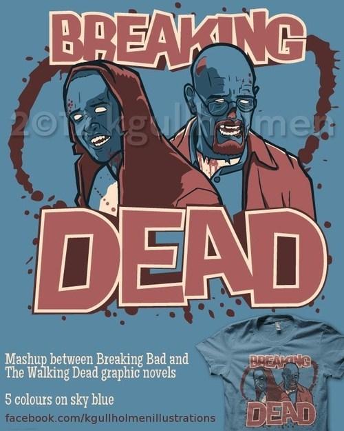 breaking bad,mashups,The Walking Dead,t shirts