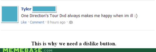 dislike,facebook,one direction,unfriend,weird kid