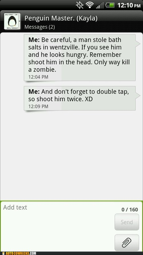 bath salts double tap headshots useful advice wentzville zombie - 6368445952