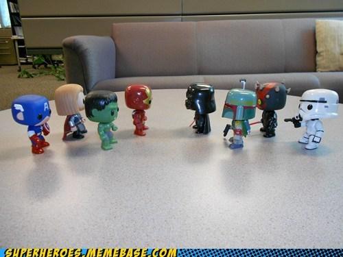 avengers Battle bobble heads cute Random Heroics star wars toys - 6368575232