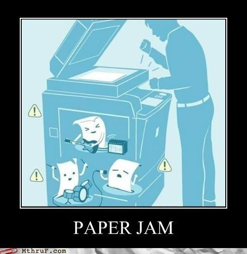 copier copy machine paper jam PC LOAD LETTER printer