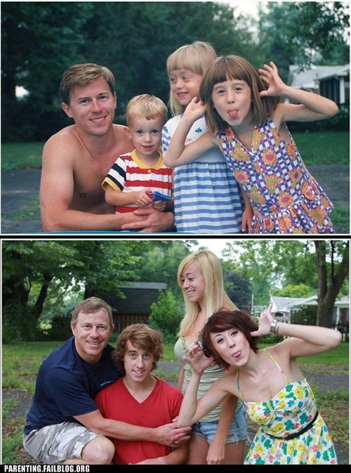 Before And After,family photo,funny face
