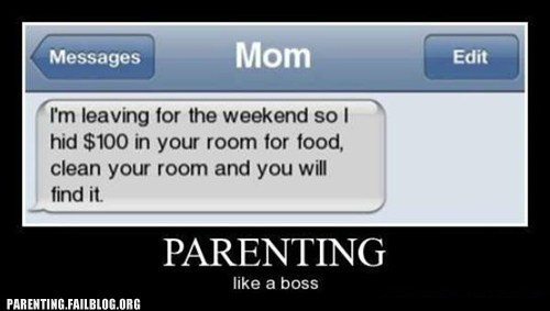 clean your room,Like a Boss,mom,text