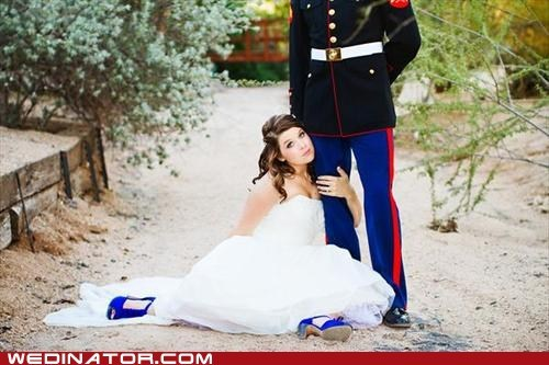 Awkward,bride,funny wedding photos,marines