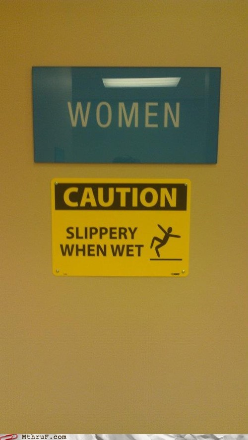 slippery when wet,women
