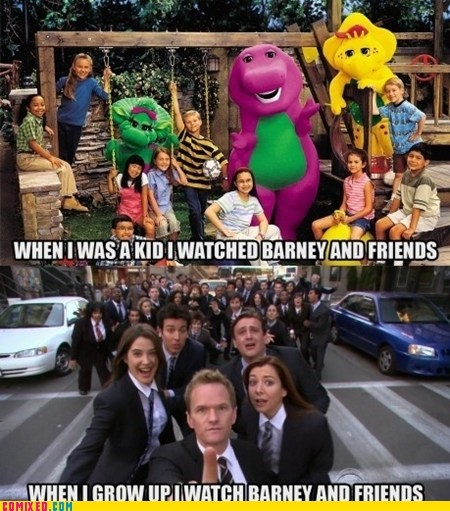 barney stinson,barney the dinosaur,how i met your mother,Memes,Neil Patrick Harris,TV