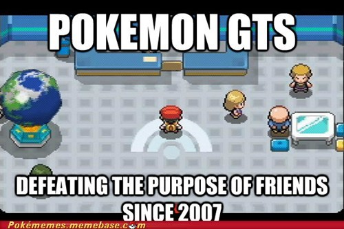 evolution forever alone gameplay GTS link cable trading - 6369138688