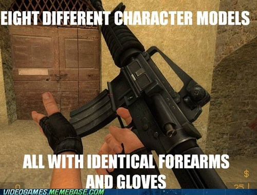counter strike forearms and gloves FPS gun logic PC source - 6369170944