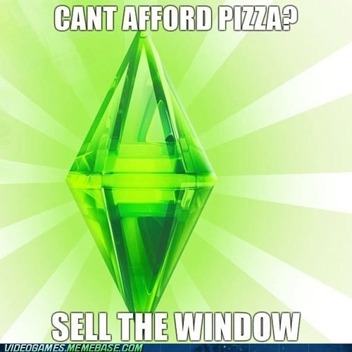 food meme pizza Sims ur a genius - 6369200640