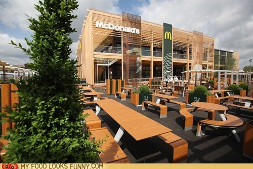 huge London McDonald's olympics restaurant