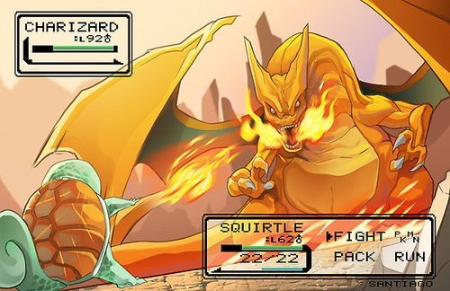 art Battle best of week charizard squirtle - 6369503488