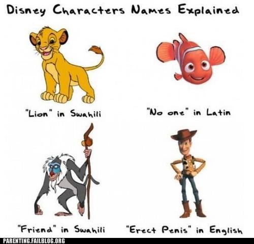 disney names,lion king,NEMO,woody
