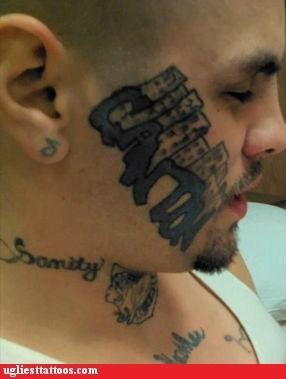 face tattoos Ugliest Tattoos - 6369748992