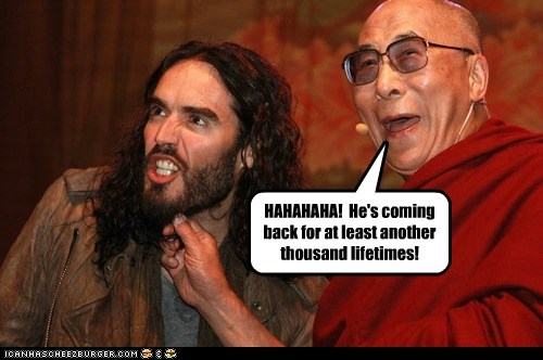 actor celeb comedian Dalai Lama funny Russell Brand - 6369889280