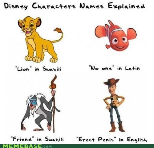 disney language Memes movies names pixar - 6370502400