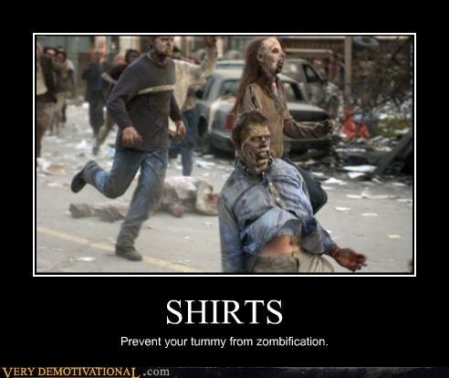 hilarious shirt tummy The Walking Dead zombie - 6370673152