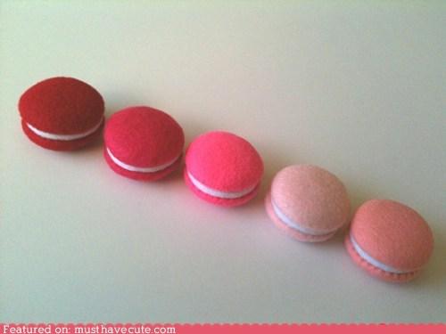 cookies fabric felt macarons - 6370755072