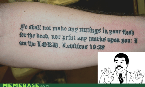 Badass,bible,jesus,Leviticus,lord,tattoo