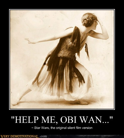 hilarious old school Princess Leia silent film star wars - 6370960384