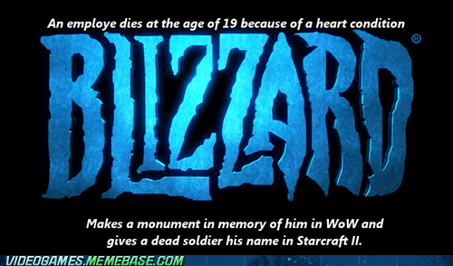 blizzard employee meme Sad StarCraft II tragedy world of warcraft - 6371091968