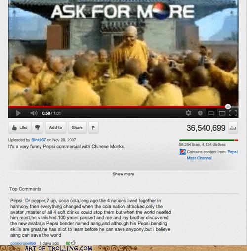 Avatar commercial pepsi youtube - 6371101696