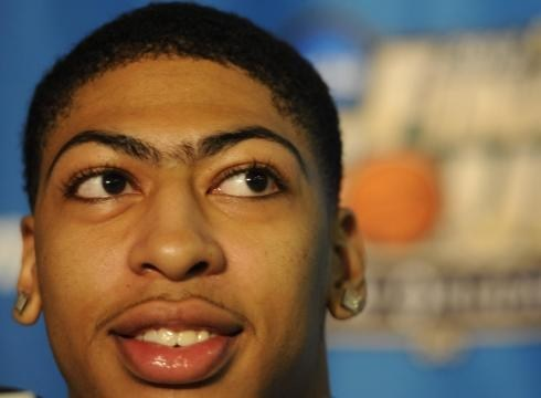 anthony davis,nba,trademark,unibrow