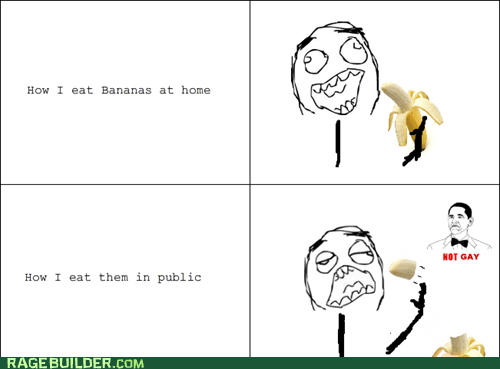 banana not bad not gay Rage Comics
