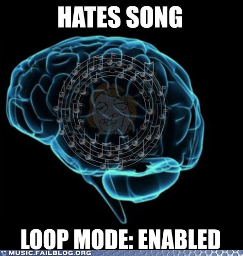 brain,loop,on repeat,stuck in head