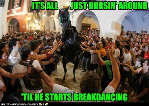 breakdancing horses political pictures Spain - 6371756544