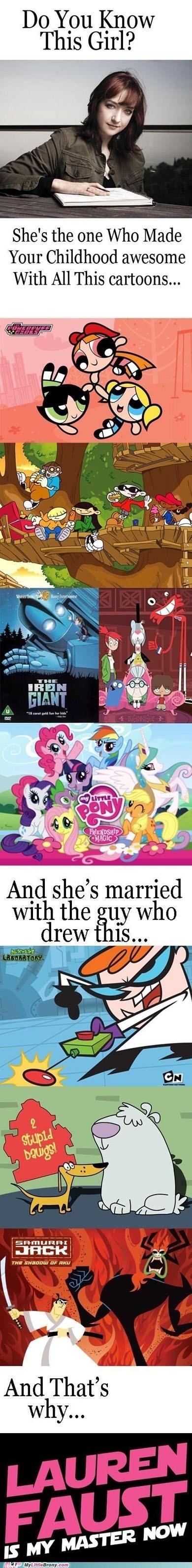 cartoons childhood creation lauren faust powerpuff girls TV - 6371848192