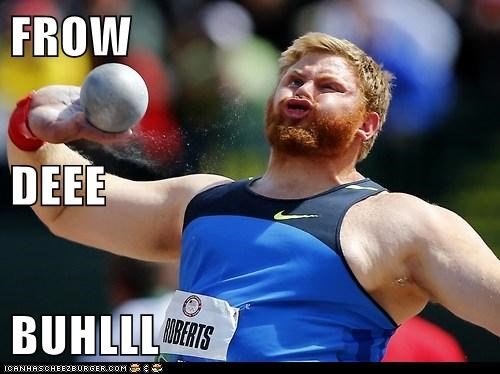 derp,London,olympics,political pictures,shot put