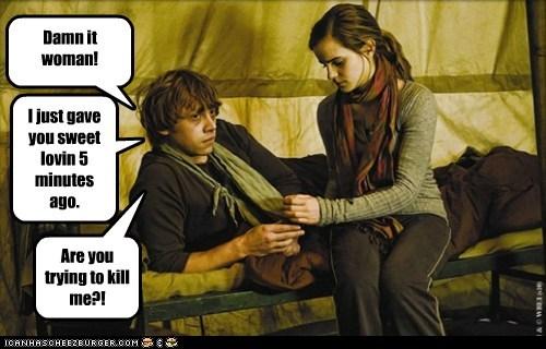 damn it emma watson Harry Potter hermione granger kill machine Ron Weasley rupert grint sweet love woman - 6371998464